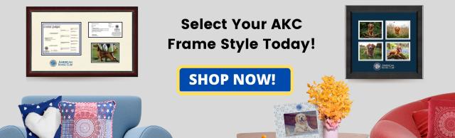 AKC frames banner