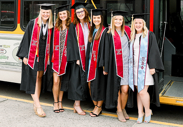 Girls Grads with their stoles