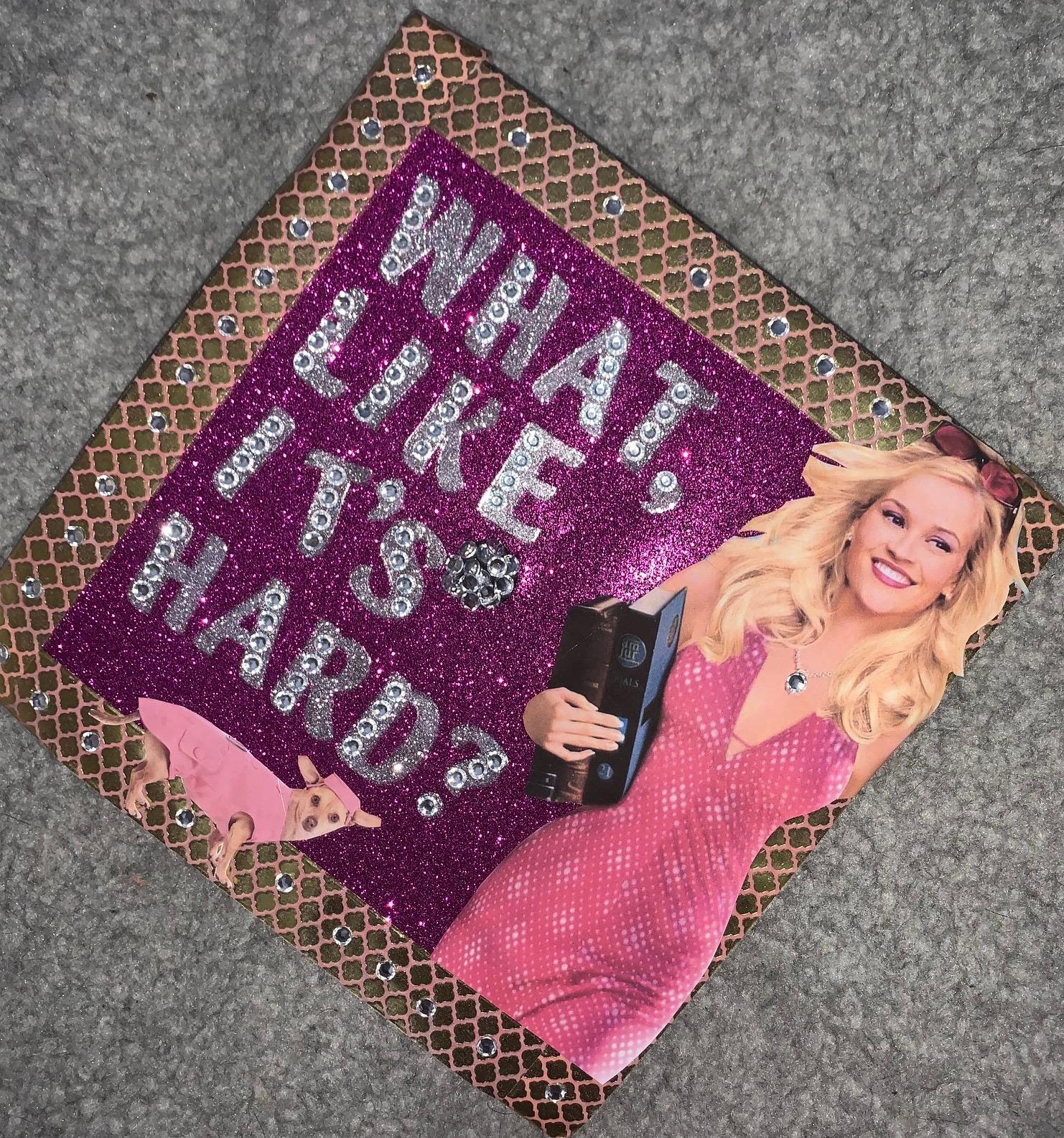 legally blonde grad cap