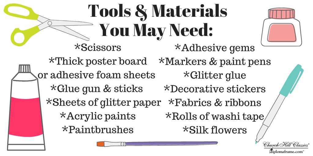 grad cap crafting materials