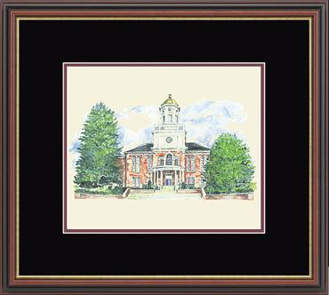 Bloomsburg University Framed Lithograph in Williamsburg