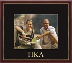 Embossed Greek Letters Photo Frame in Galleria