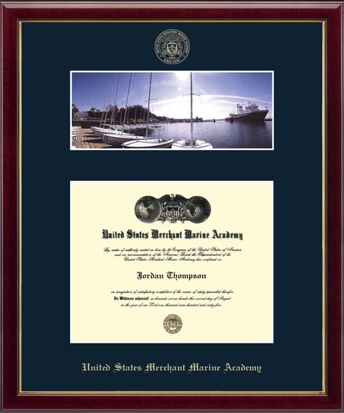 Waterfront Scene Diploma Frame in Galleria