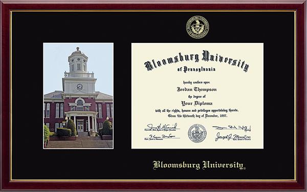 Bloomsburg University Campus Scene Diploma Frame in Galleria