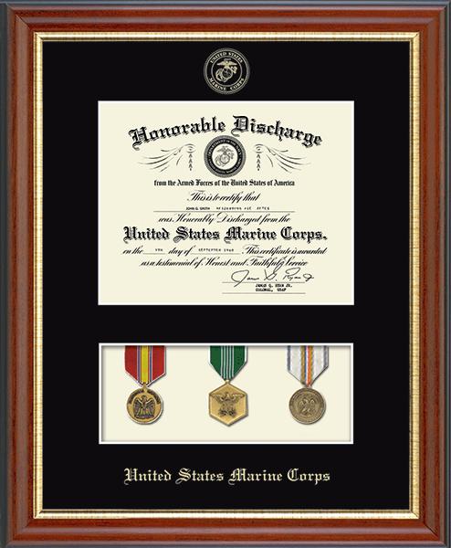 Medal Display Marine Corps Certificate Frame in Newport