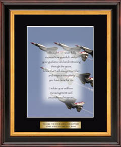 Air Force Military Gratitude Frame - Airplanes in Verona