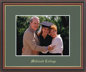 Midland College Gold Embossed Photo Frame in Williamsburg