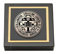 Black Enamel Masterpiece Medallion Paperweight