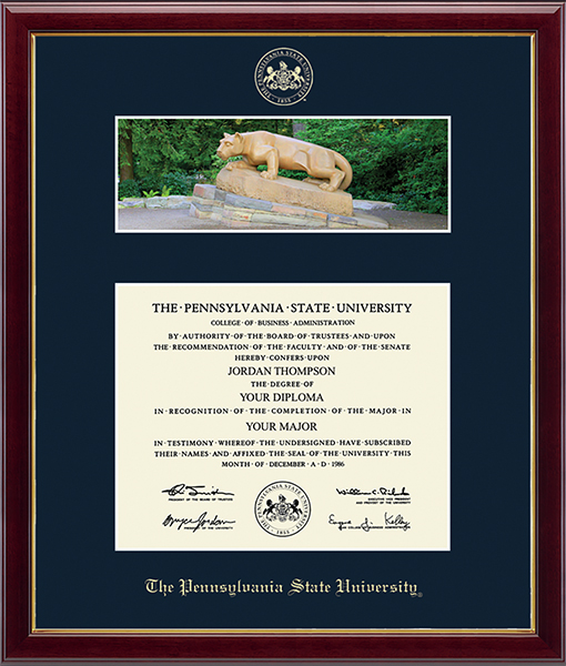 Campus Scene Diploma Frame - Nittany Lion in Galleria
