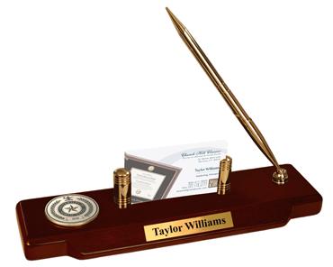 Brass Masterpiece Medallion Desk Pen Set