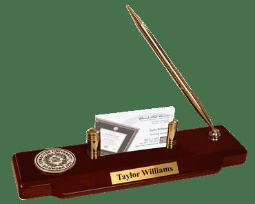 Black Enamel Medallion Desk Pen Set
