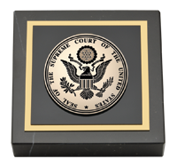 Black Enameled Masterpiece Medallion Paperweight
