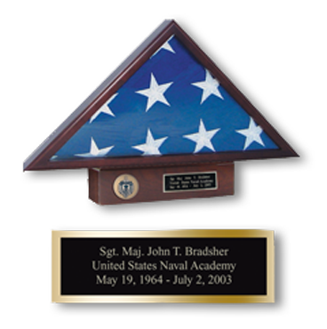 Memorial Flag Case with Pedestal