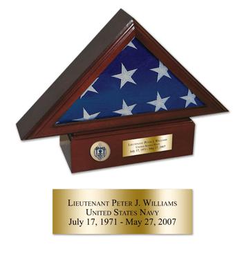 Presentation Flag Case with Pedestal