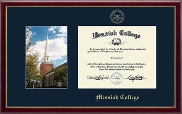 Campus Scene Diploma Frame - Hostetter Chapel in Galleria