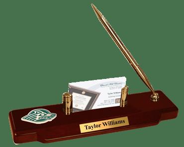 Brass Spirit Medallion Desk Pen Set
