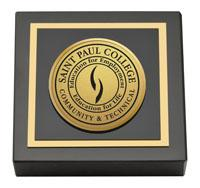 Saint Paul College Gold Engraved Paperweight