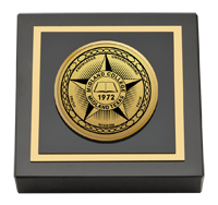 Midland College Gold Engraved Paperweight