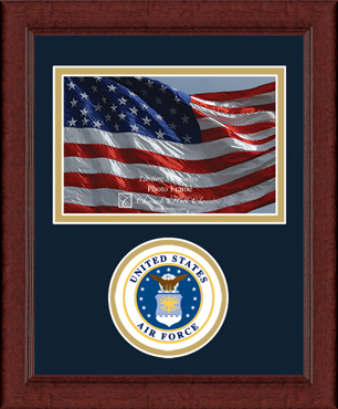 United States Air Force Lasting Memories Circle Seal Photo Frame in Sierra