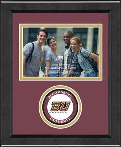 Bloomsburg University Lasting Memories Circle Logo Photo Frame in Arena