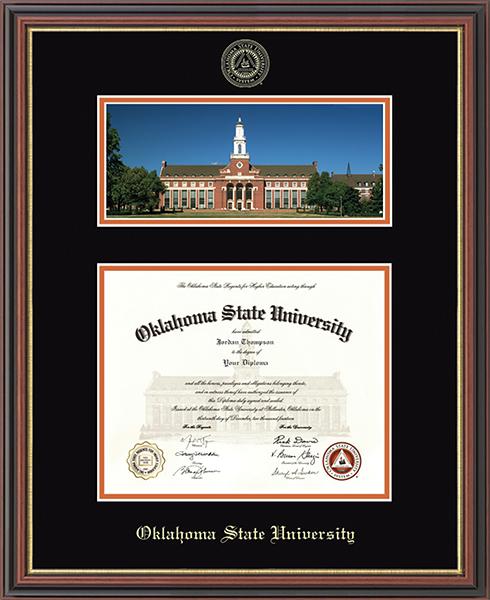 Campus Scene Diploma Frame in Williamsburg