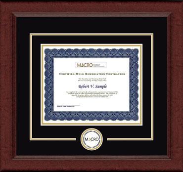 Certificate Edition Circle Logo Frame in Sierra