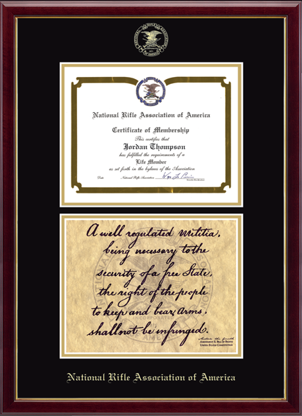 Double Certificate Second Amendment Edition Frame in Galleria