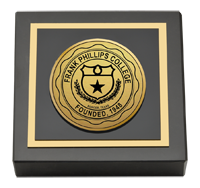 Frank Phillips College Gold Engraved Paperweight