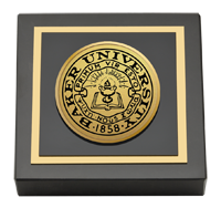Baker University Gold Engraved Paperweight