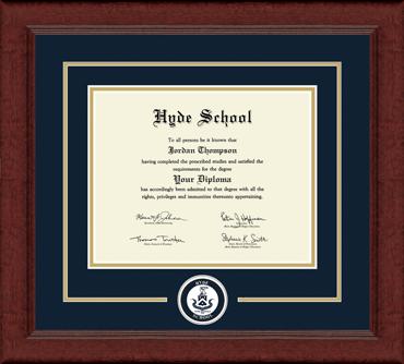 Circle Logo Edition Diploma Frame in Sierra