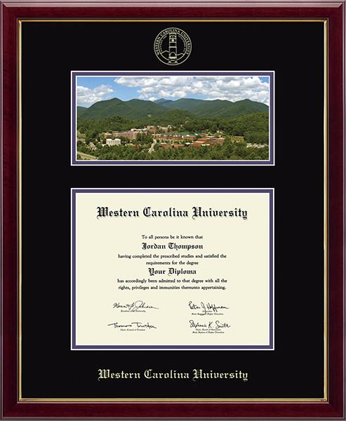 Western Carolina University Campus Scene Diploma Frame in Galleria