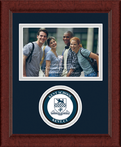 Kent School in Connecticut Lasting Memories Circle Logo Photo Frame in Sierra