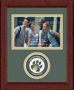 Lasting Memories Circle Logo Frame in Sierra