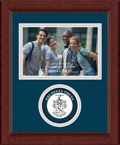 "4"" x 6"" - Lasting Memories Circle Logo Photo Frame in Sierra"