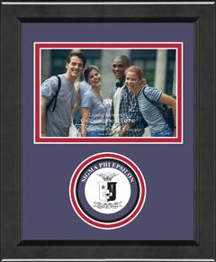 "4"" x 6"" - Lasting Memories Circle Logo Photo Frame in Arena"
