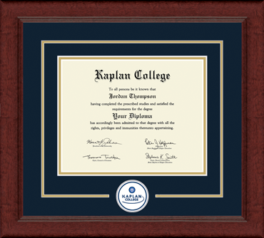 Lasting Memories Circle Seal Diploma Frame in Sierra
