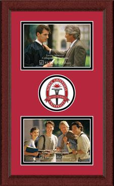 Lasting Memories Double Circle Logo Photo Frame in Sierra