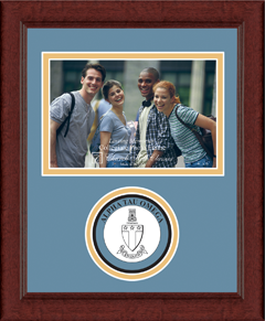 "4"" x 6"" - Lasting Memories Circle Logo Photo Frame in Sierra"
