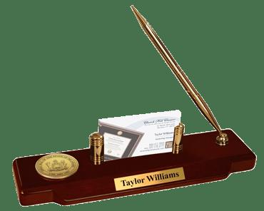 State of Delaware Gold Engraved Medallion Desk Pen Set