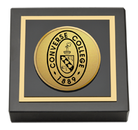 Converse College Gold Engraved Paperweight