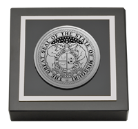 Silver Engraved Medallion Paperweight