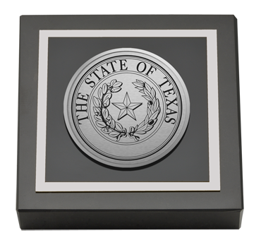 State of Texas Silver Engraved Medallion Paperweight