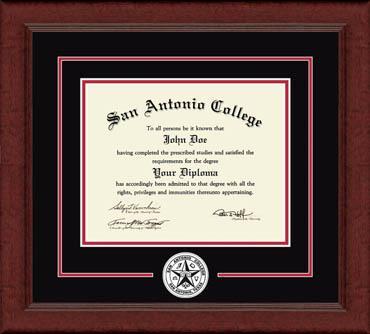 Circle Logo Diploma Frame in Sierra