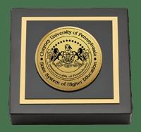 Cheyney University Gold Engraved Medallion Paperweight