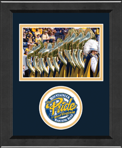 West Virginia University Lasting Memories Circle Logo Photo Frame - Horizontal in Arena