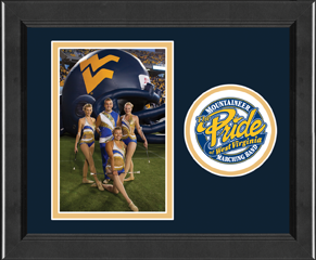 West Virginia University Lasting Memories Circle Logo Photo Frame - Vertical in Arena