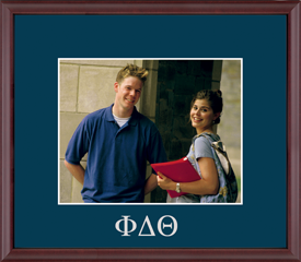Embossed Greek Letters Photo Frame in Camby