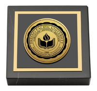 Fresno Pacific University Gold Engraved Medallion Paperweight