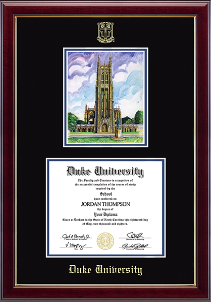 Campus Scene Overly Edition Diploma Frame in Gallery