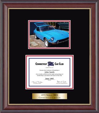Certificate Photo Frame in Studio Gold